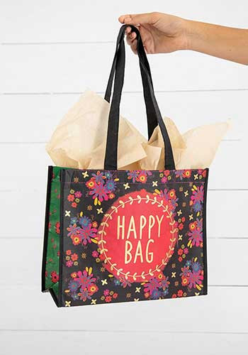 gold wreath large happy bag