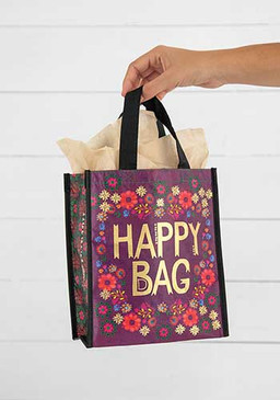 plum floral medium happy bag