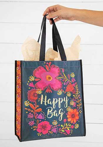 turquoise magenta cream XL happy bag