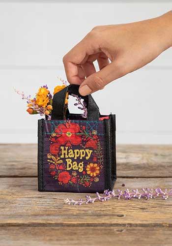 purple gold wreath x small happy bag