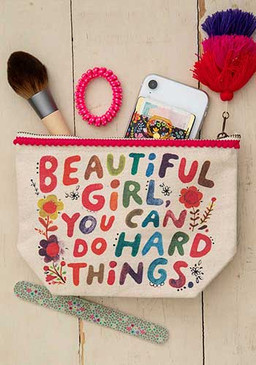 beautiful girl canvas pouch