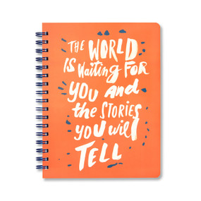 the world is waiting for you journal, front cover