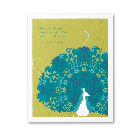 I only wish you could see encouragement card, front