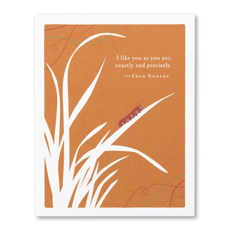 I like you as you are love card