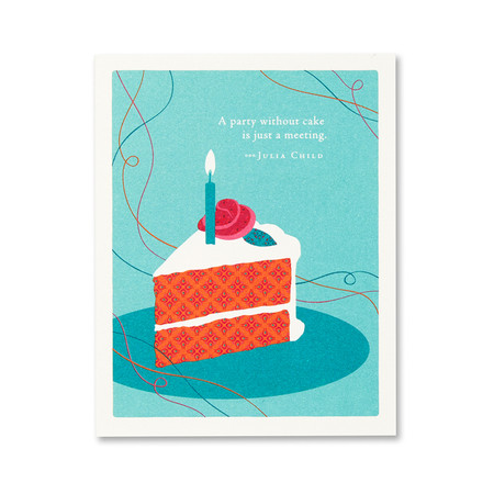 a party without a cake birthday card