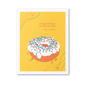 nothing to do but smile birthday card