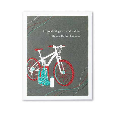 all good things are wild birthday card
