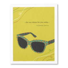 the sun shines for you birthday card