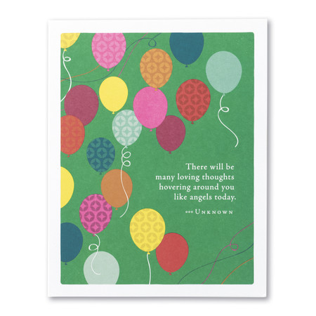many loving thoughts birthday card