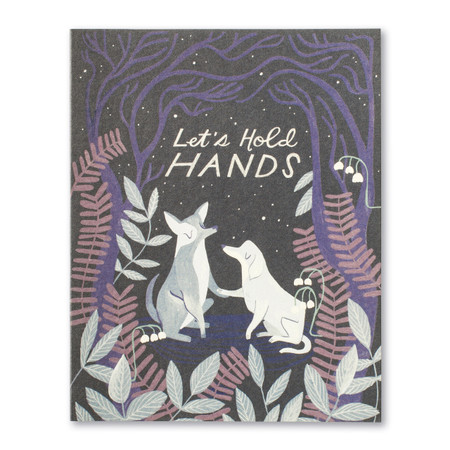 let's hold hands love card