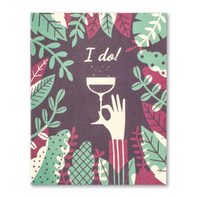 I do! wedding card, fron