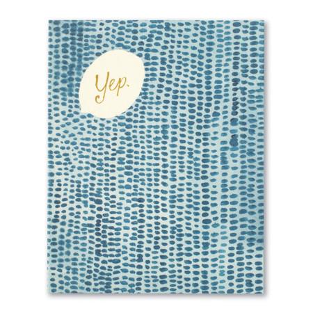 yep anniversary card, front