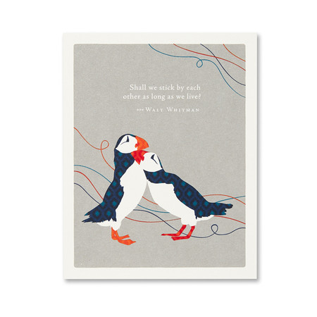 stick by each other anniversary card