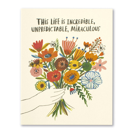 this life is incredible birthday card