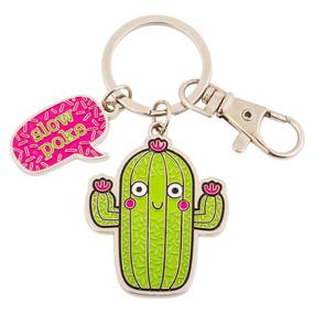 cactus enamel key chain