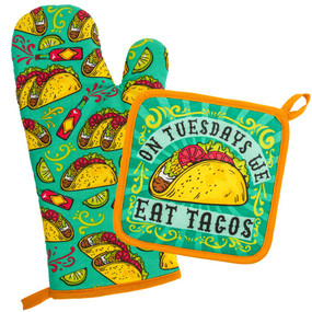 tacos oven mitt & pot holder