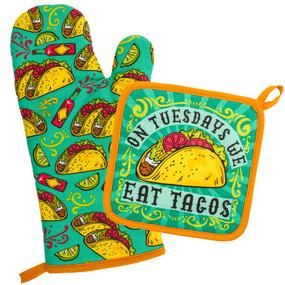 tacos oven mitt & pot holder