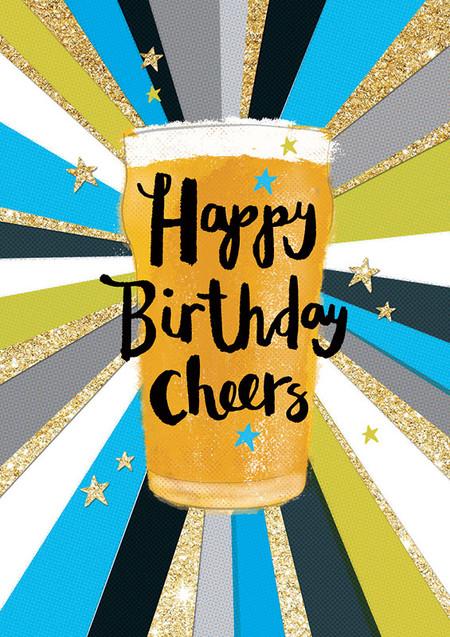 cheers beer birthday card