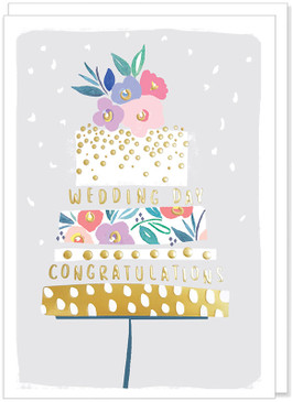 congratulations cake wedding card