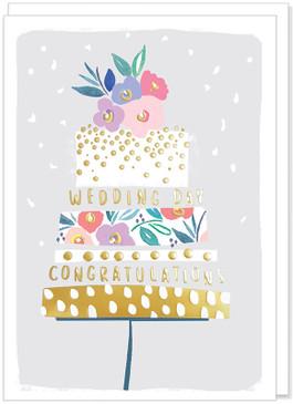 congratulations cake wedding card