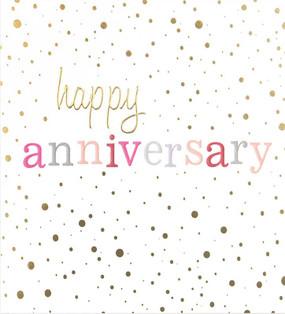 anniversary confetti anniversary card