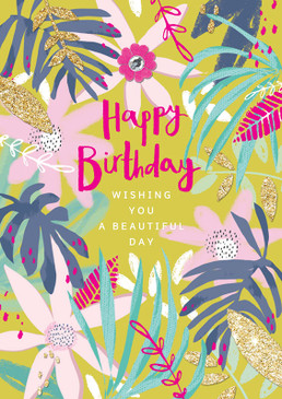 wishing you a beautiful day birthday card