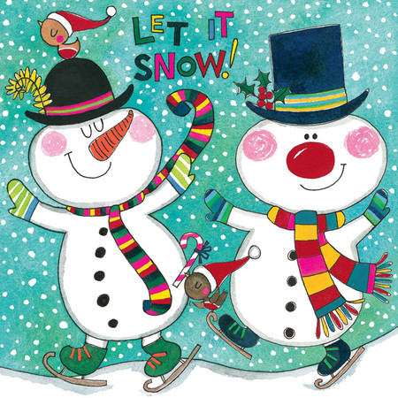 let it snow holiday puzzle card