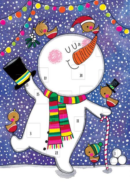 snowman advent card
