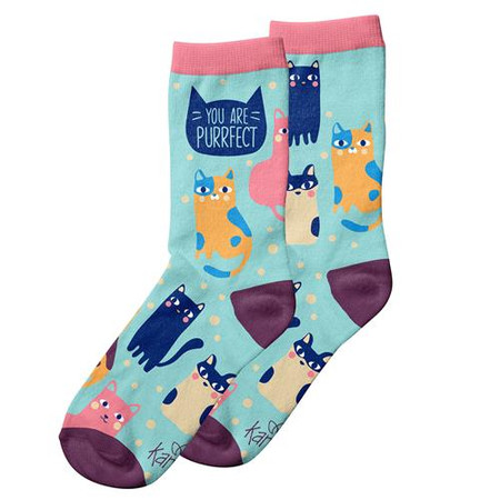 you are purrfect womens socks