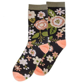 charcoal florera womens socks