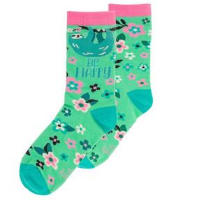 be happy sloth womens socks