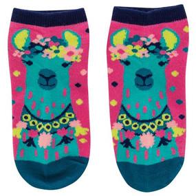 pink llama womens ankle socks