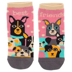 best friends dog womens ankle socks