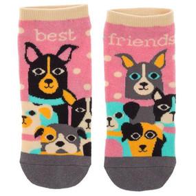 best friends dog womens ankle socks