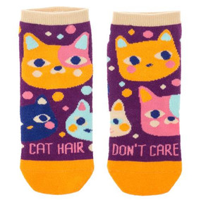 cat hair don't care womens ankle socks