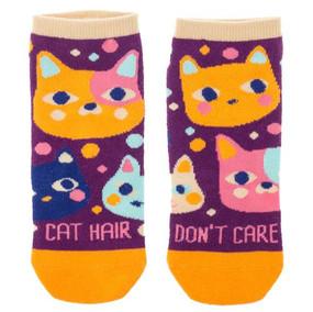 cat hair don't care womens ankle socks