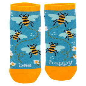 bee happy womens ankle socks