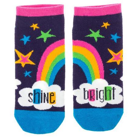 shine bright womens ankle socks