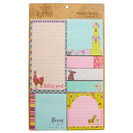 llama sticky note set