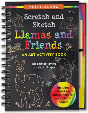 llama's & friends scratch & sketch, front cover