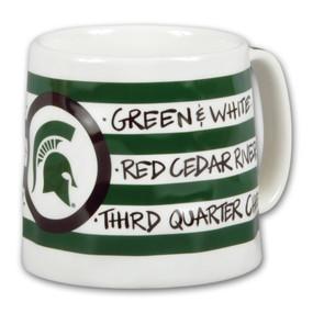 michigan state striped logo mug