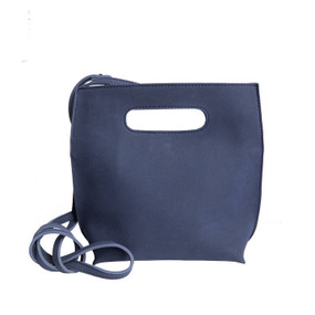 adjustable suede handbag, blue