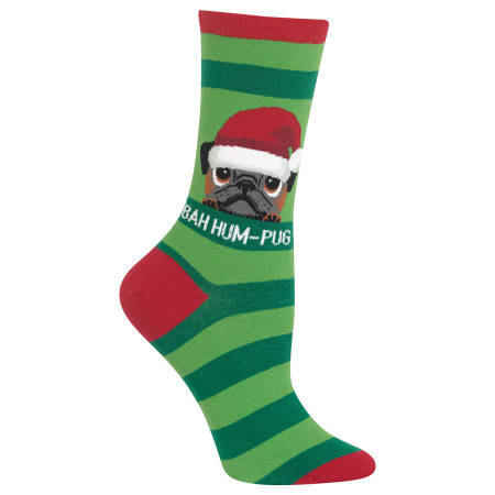 bah humpug womens crew socks