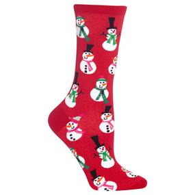 snowmen womens crew socks