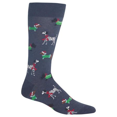 christmas dogs mens crew socks