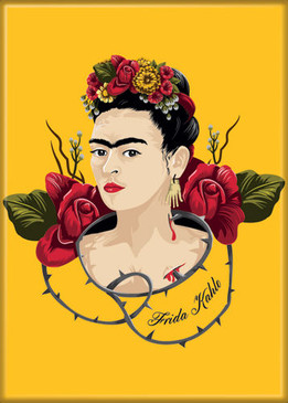 frida kahlo with thorns photo magnet