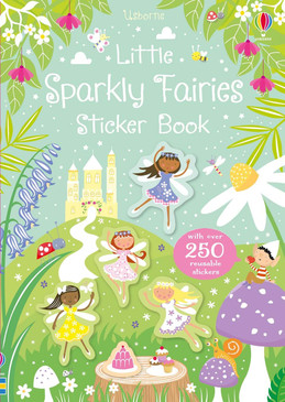 little sparkly fairies sticker book, front cover