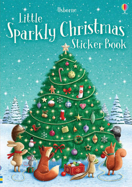 little sparkly christmas sticker book