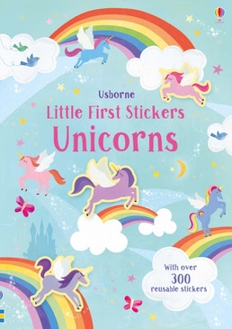 little first stickers unicorns, front cover