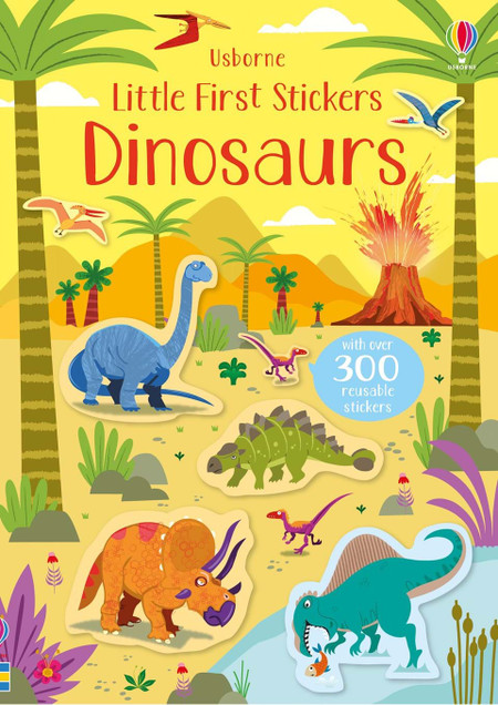 little first stickers dinosaurs, front